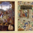 In the late fifteenth-century Hours of Mary of Burgundy, also known as the Vienna Hours, every folio is richly decorated with window scenes of religious subjects surrounded by extravagant foliage.