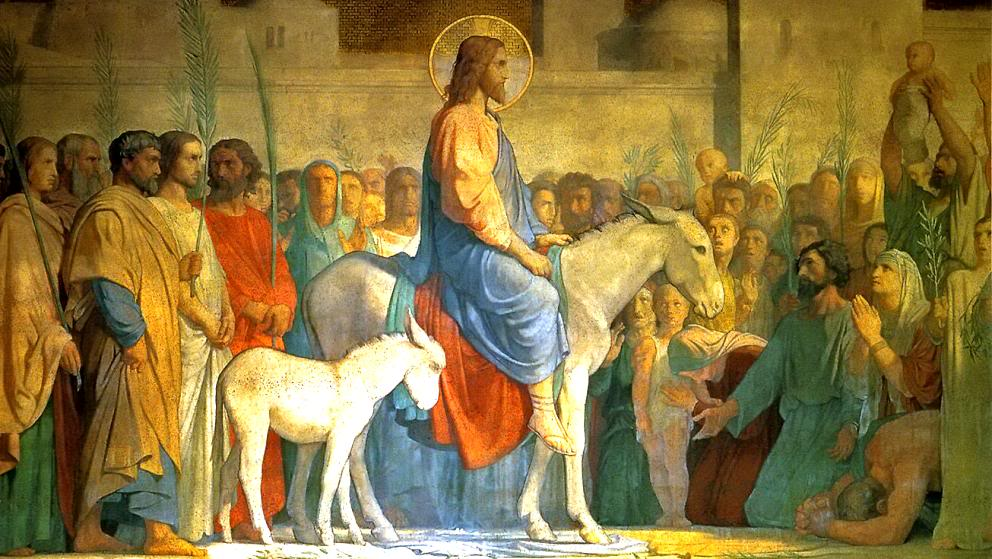 Christ entering Jerusalem on an ass
