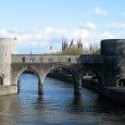 The Pont des Trous, a 13th century bridge in the city of Tournais, could be torn down and replaced as part of large project to create a canal that would link France with the Low Countries.