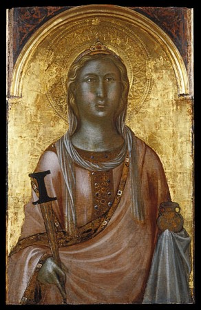 medieval image of saint lucy from the walters art museum
