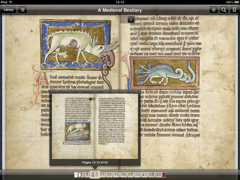 Bestiary on iPad