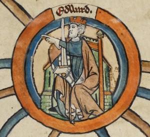 Medieval image of Edward the Elder
