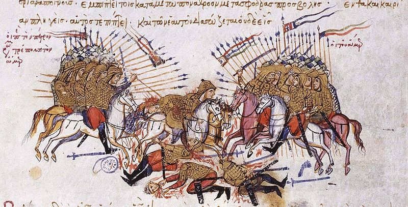 [IMG]http://www.medievalists.net/wp-content/uploads/2014/01/Fighting_between_Byzantines_and_Arabs_Chronikon_of_Ioannis_Skylitzes_end_of_13th_century..jpg[/IMG]