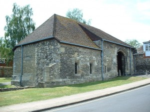 The remaining part of Hyde Abbey - Hyde Abbey Gate, just North of Winchester. Photo by Gary Reggae