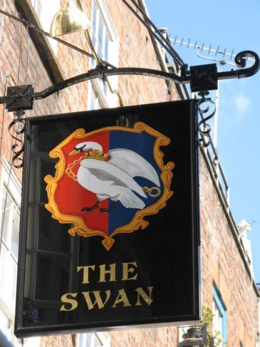Medieval Tavern Names - the Swan continues to be a well-used name, such as this one in current-day London. Photo by Mike Quinn / Geograph Project