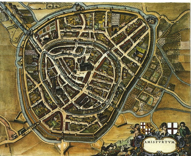 City of Amersfoort in the Netherlands, from  1652