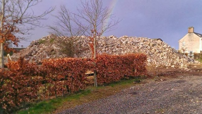 Coolbanagher Castle destroyed  - image courtesy Laois Archaeology/Robert Chapple