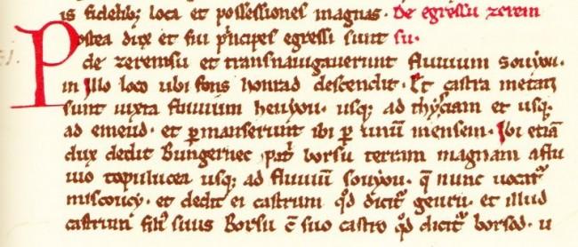 Excerpt from the Gesta Hungarorum