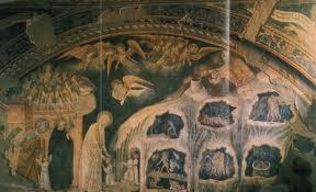 Saint Patrick's Purgatory: a fresco in Todi, Italy