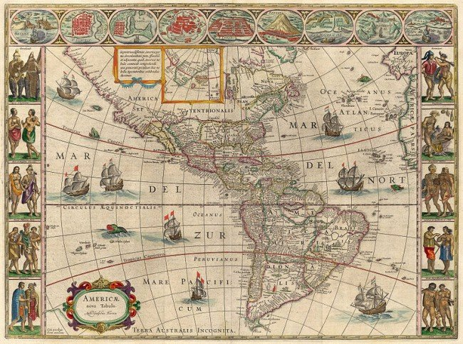 Map of the Americas from 1621