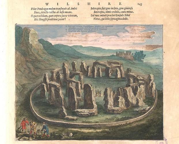 View of Stonehenge created by Joan Blaeu in 1645