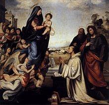 The Vision of St Bernard, by Fra Bartolommeo, c. 1504 (Uffizi)