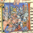 The Crusades were a major turning point in history which evoked a rapid evolution of arms and armors that persisted throughout the middle ages.
