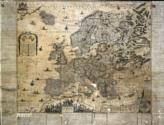 Map of Europe created by Joan in 1659