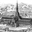 It was the fourth church to be built on the site on Ludgate Hill and the presence of the shrine of St. Erkenwald made the church a pilgrimage site in medieval times.