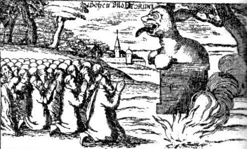 17th century depiction of Perun