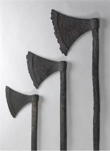 three viking axes