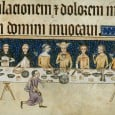 When we think about medieval people eating together, it seems we invariably conjure up an image of a great hall, filled with people sitting at long tables.
