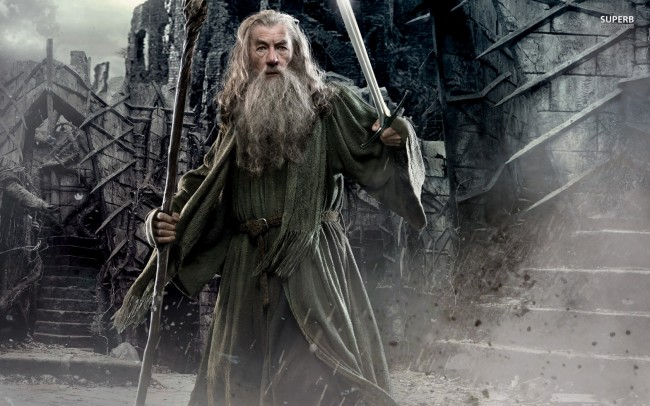 """Gandalf in the """"Hobbit: The Desolation of Smaug"""", played by Ian McKellen."""