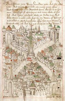 Medieval Bristol - Robert_Ricart's_map_of_Bristol