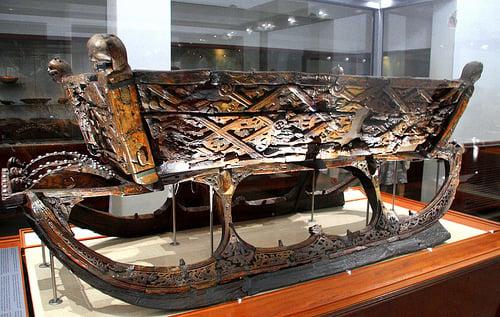 Oseberg Viking ship -  sledge