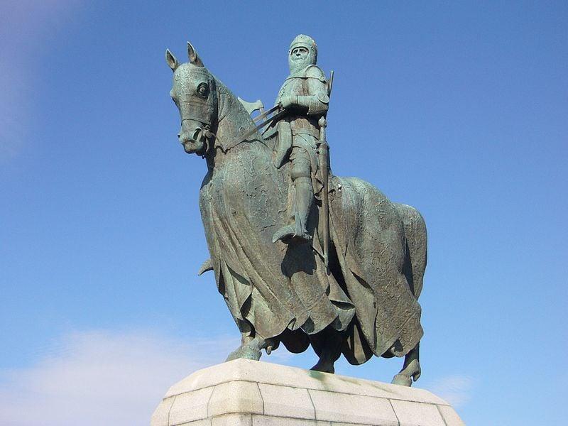 Robert Bruce statue, Bannockburn - photo by Kim Traynor