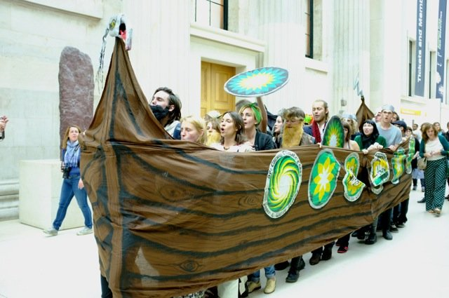 'Vikings' protest inside the British Museum over BP sponsorship