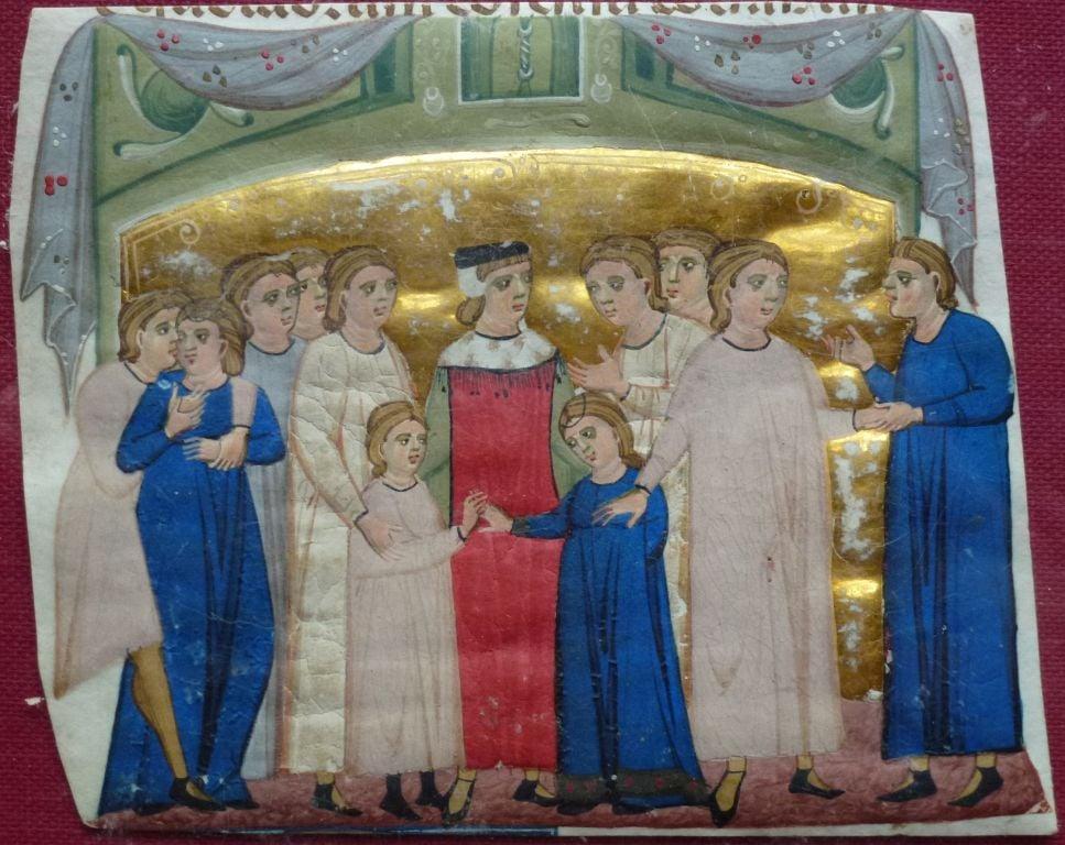 Illumination from Gratian's Decretum - Royal Collection Trust