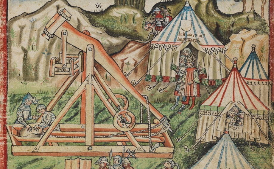 15th century depiction of a trebuchet
