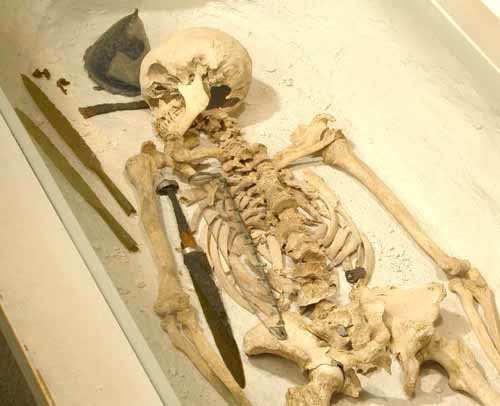 Anglo Saxon Warrior burial