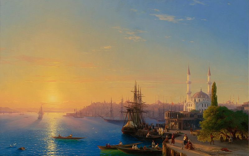 View of Constantinople and the Bosphorus by  Ivan Aivazovsky