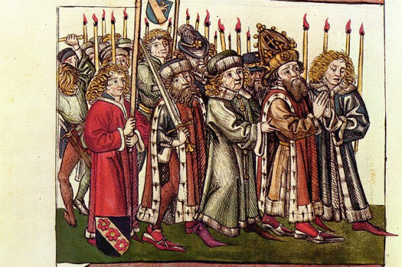 Depiction of King Sigismund of Hungary from the mid-15th century