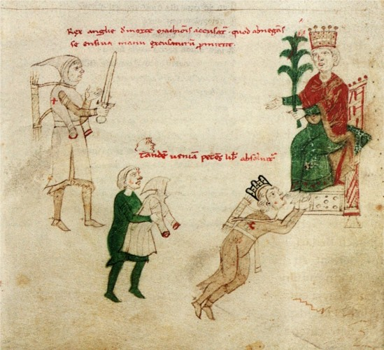 Holy Roman Emperor Henry VI grants a pardon to Richard I of England