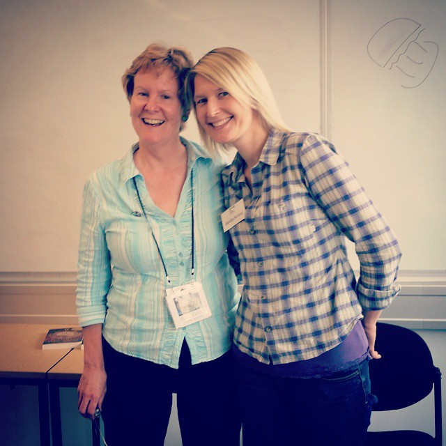 Me with Roman period author, Alison Morton at 'Veni, Vidi, Vici'