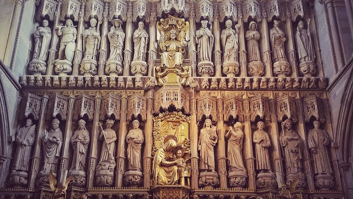 High Altar Screen - Southwark cathedral , 1520 AD.