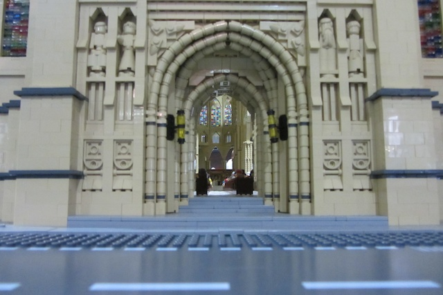 An enormous model of Westminster abby. Made from Lego . Photo by Les Chatfield from Brighton, England