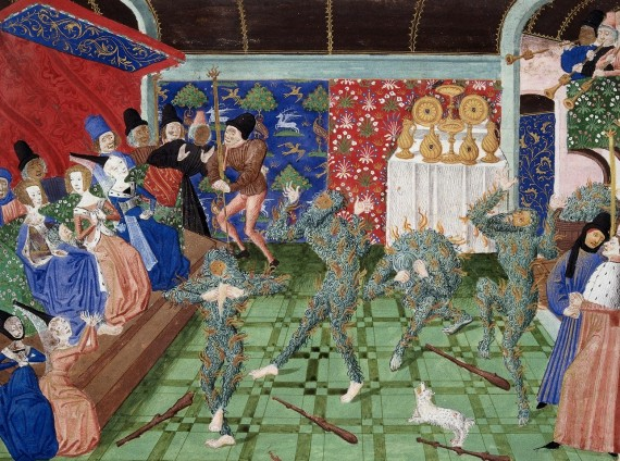 The Bal des Ardents depicted in a 15th-century miniature from Froissart's Chronicles.