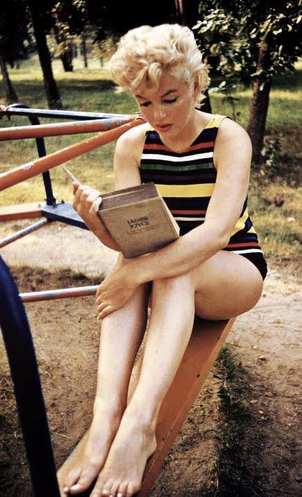 Marilyn Monroe Reading Ulysses