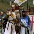 The destruction of film tradition, if not film as a medium, begins in Monty Python and the Holy Grail with the famous mobile credits.