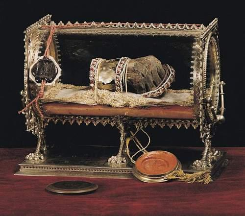 Mummified right hand of Stephen I of Hungary - canonized in 1083 A.D.