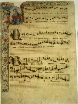 Rome - music manuscript, 15th c. - polyphonic music
