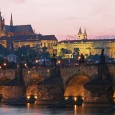 The History behind the Charles Bridge Built during the reigns of Charles IV (1346-1378) and his son, Wenceslas IV (1363-1419), the Charles Bridge crosses the river Vltava in Prague, joining the Old Town on its eastern side, the commercial hub of the city, and the Hradčany and Malá Strana on the west, where the castle and cathedral are located