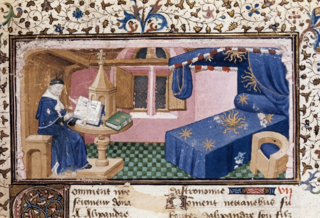 medieval bedroom - Royal 20 B XX f. 1