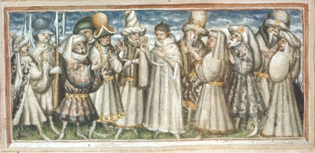 medieval people - Harley 2278   f. 29v