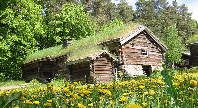 Log houses in the farmstead from Østerdal - Kjetil Bjørnsrud