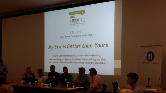 The panel of 'My Era Is Better Than Yours' - Historical Novel Society Conference, London 2014.