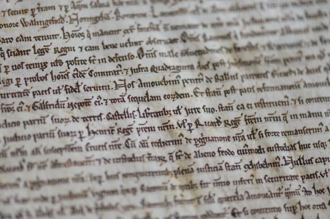 Salisbury Cathedral's Magna Carta, photo credit Ash Mills