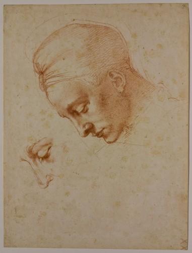 Studies for the head of Leda c.1530 - Casa Buonarroti / AGO