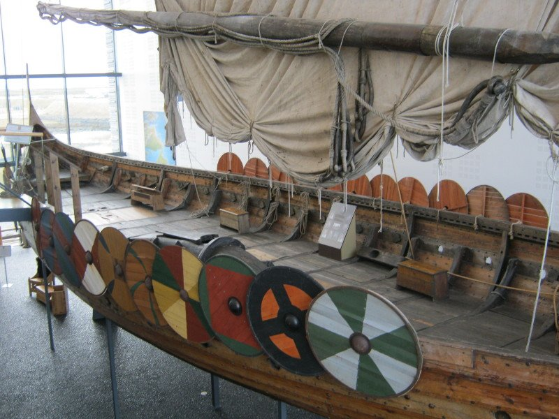 Viking ship at the Vikingsheimar Museum - Iceland