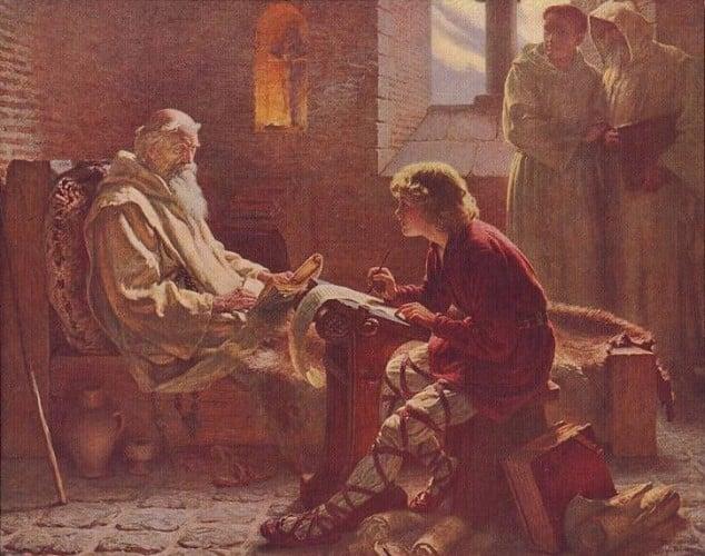 The Venerable Bede Translates John by J. D. Penrose (ca 1902)